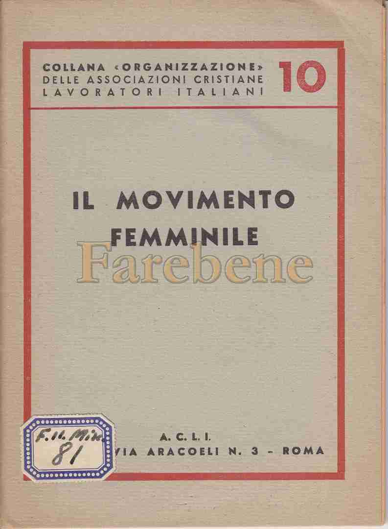 acli movimento femminile 1945