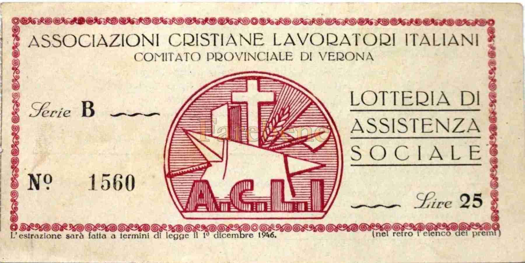assistenza sociale lotteria verona