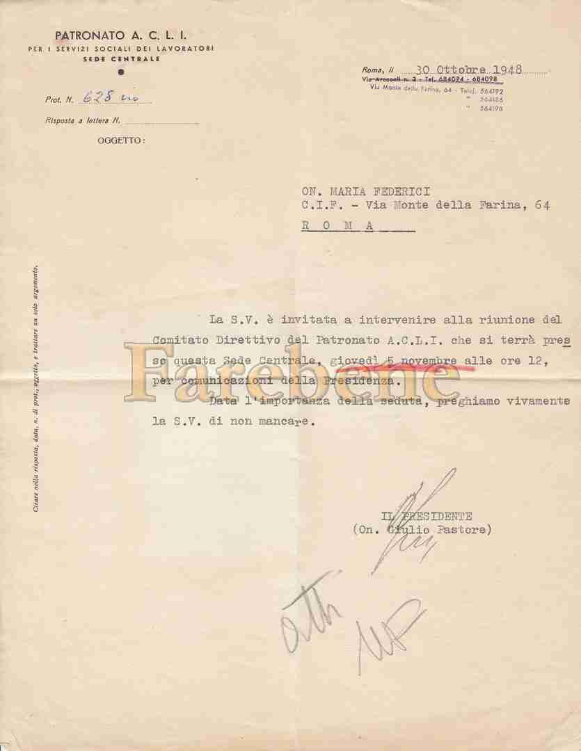 patronato-acli-lettera-pastore 1948