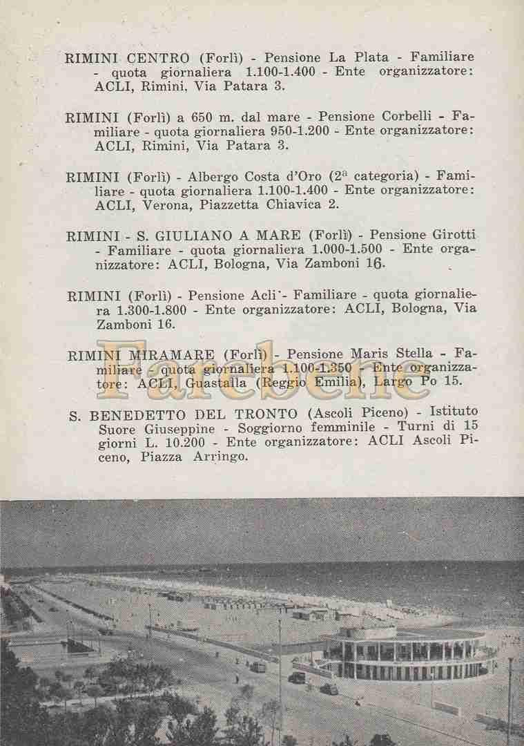 Vacanze con le Acli 1954