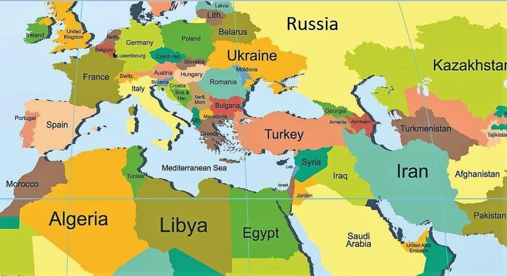 Cartina Europa E Medio Oriente.Europa E Medio Oriente Le Acli Di Trieste Presentano Un Volume Su Vent Anni Di Storia Farebene